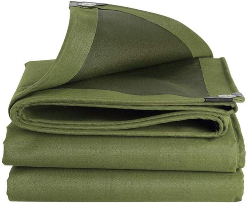 DALL ターポリン 600g / M 2 キャンバスを厚く 防雨生地 日焼け止め 防水 アウトドア 金属製のボタンホール 丈夫な (Color : 緑, Size : 3×5m) 緑 3×5m