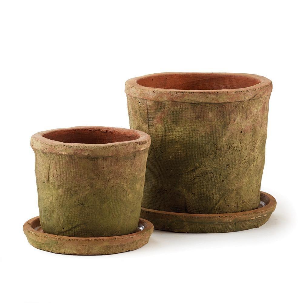 Amazon.com: Cotswold Pots W/Saucers, Set of 2: Garden & Outdoor