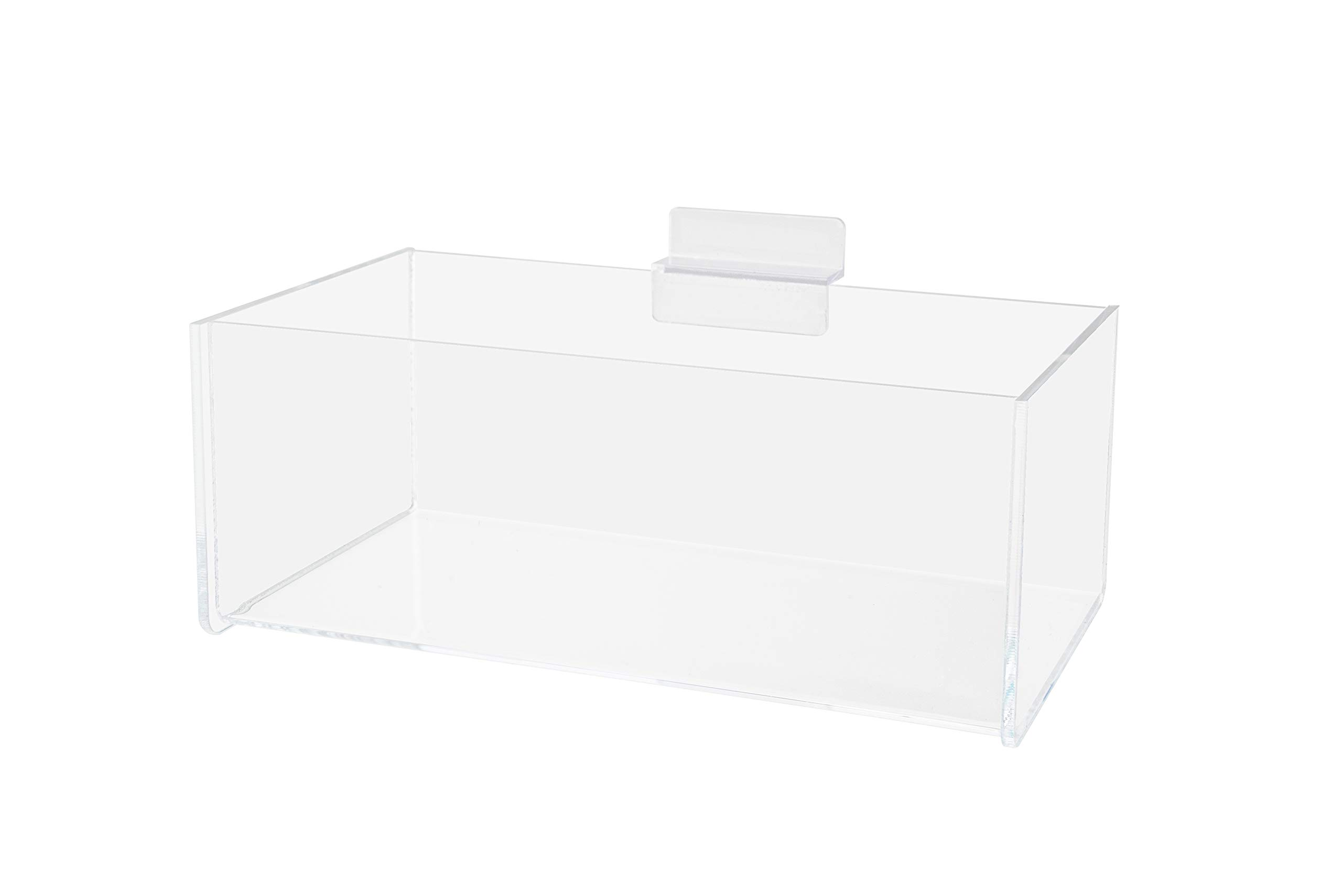 Marketing Holders Slatwall Storage Bin Coffee Bar Essential Condiment Caddy Toys Legos Paper Clips Office Supplies (1, 8''w x 3''h Pack of 6) by Marketing Holders