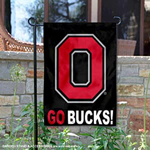 College Flags and Banners Co. Ohio State Buckeyes GO Bucks Garden Flag