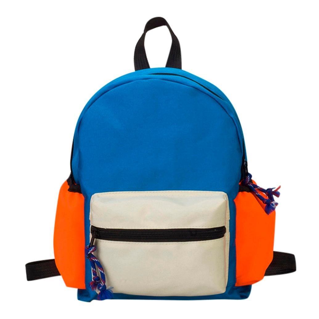 sunbona Kidsバックパック子供用ガールズBoysパッチワークバックパック学生スクールバッグ ブルー Sunbona*baby01  ブルー B07FX2P9PN