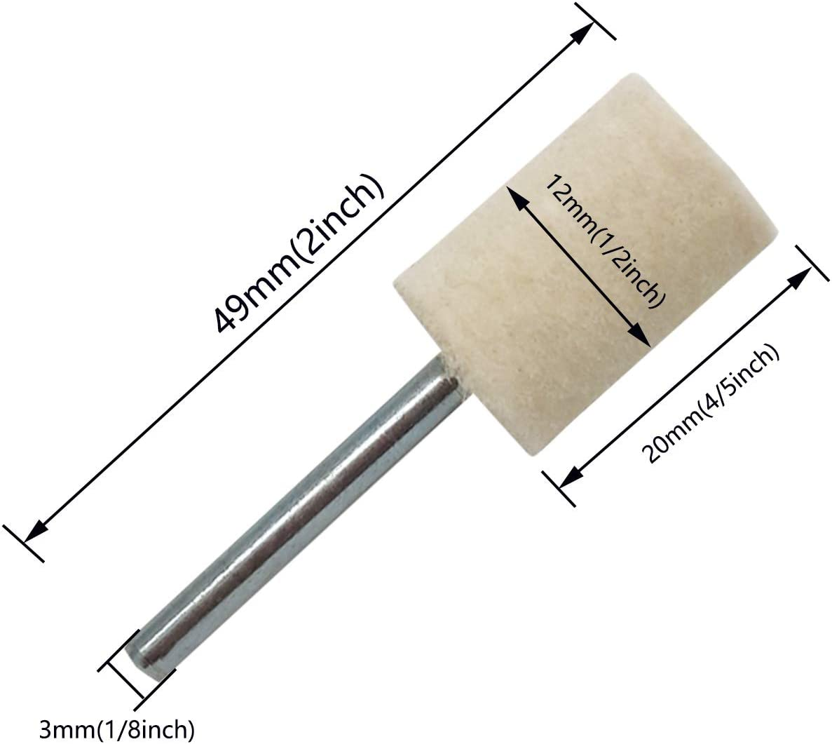 3mm Shank Mandrel Mounted Column Grinding Stone For Rotary Tool 20MM 15PCS