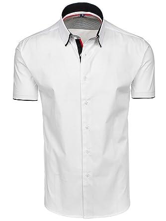 BOLF Herren Hemd Business Freizeithemd Kurzarm Grande ETERNITA GE1 Weiß XXL   2B2  f0f921ea63