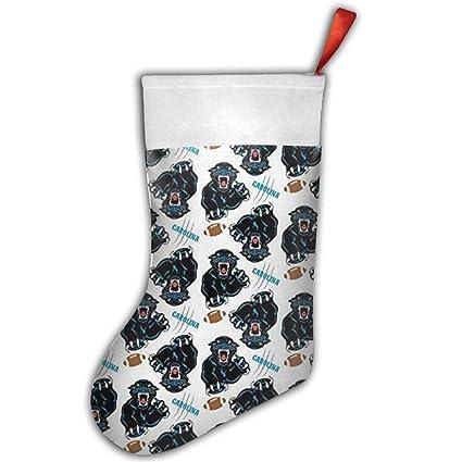 Deal Pantera gatos de fútbol calcetín de Navidad medias Navidad fiesta con aro colgante