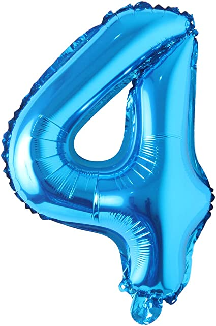 BLUE COLOUR 16″ INCH 0-9 A-Z NUMBER /& LETTER FOIL BALLOONS AIR FILL FOIL BALLOON