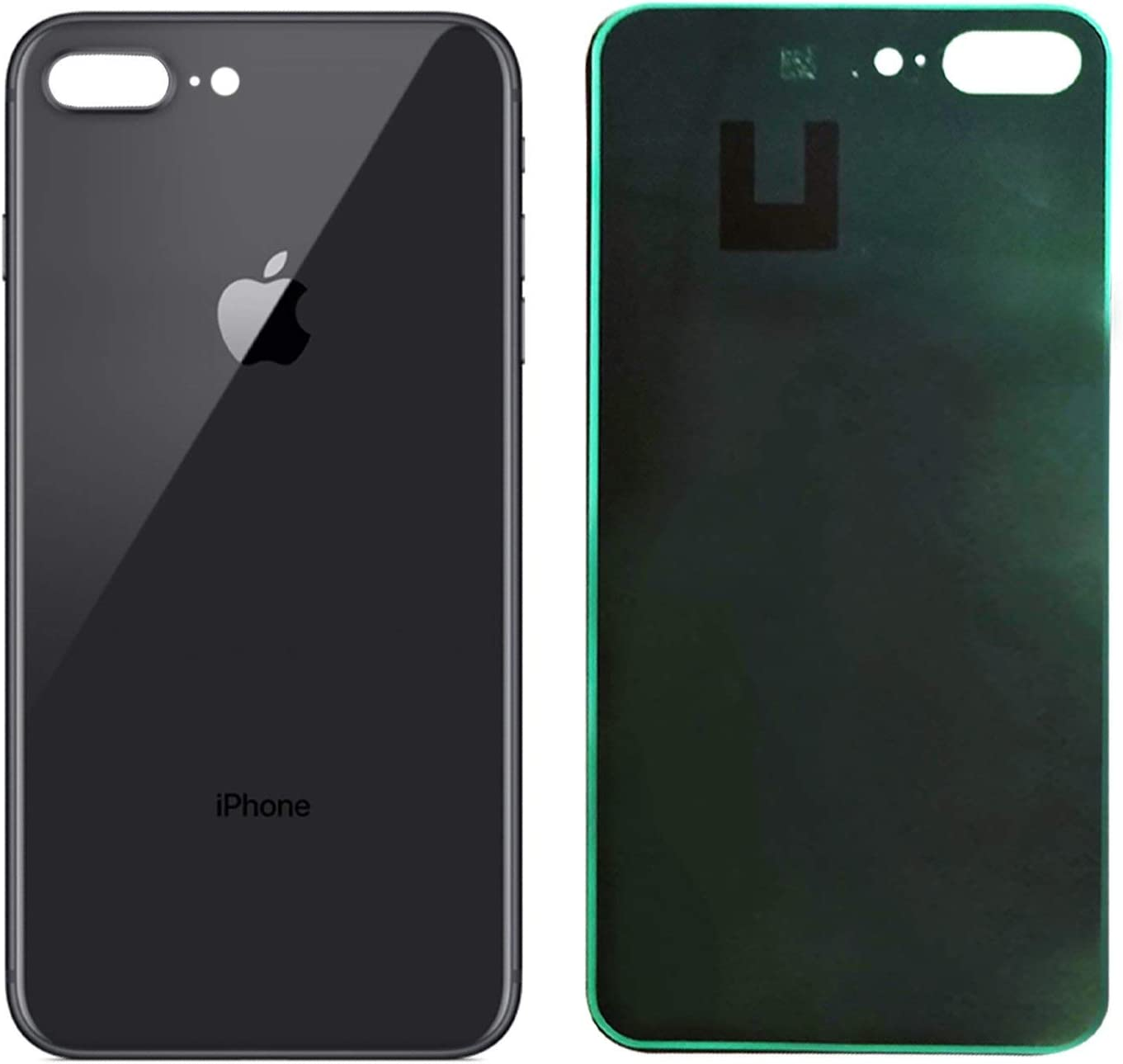Amazon Com Apple Iphone 8 Plus Replacement Back Glass Cover Back Battery Door W Pre Installed Adhesive Best Version Apple Iphone 8 Plus All Models Oem Replacement Black