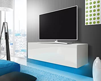Tv lowboard weiß modern  Lana – Fernsehschrank/TV-Lowboard mit LED Modern Hängend 140 cm ...