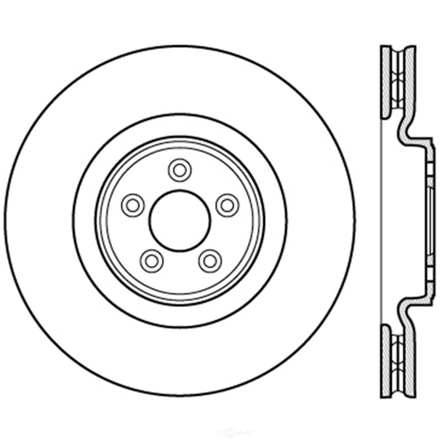 Centric 226.20026 Slotted Brake Rotor