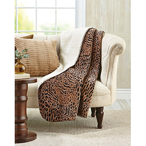 Luxurious Cheetah Ombre Faux Fur Throw Lined with Sherpa for extra warmth