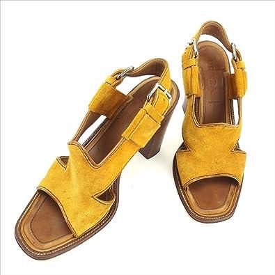 5ebf08bf7766 [プラダ] サンダル シューズ 靴 レディース ♯36 スリングバック チャンキーヒール 中古 J18702