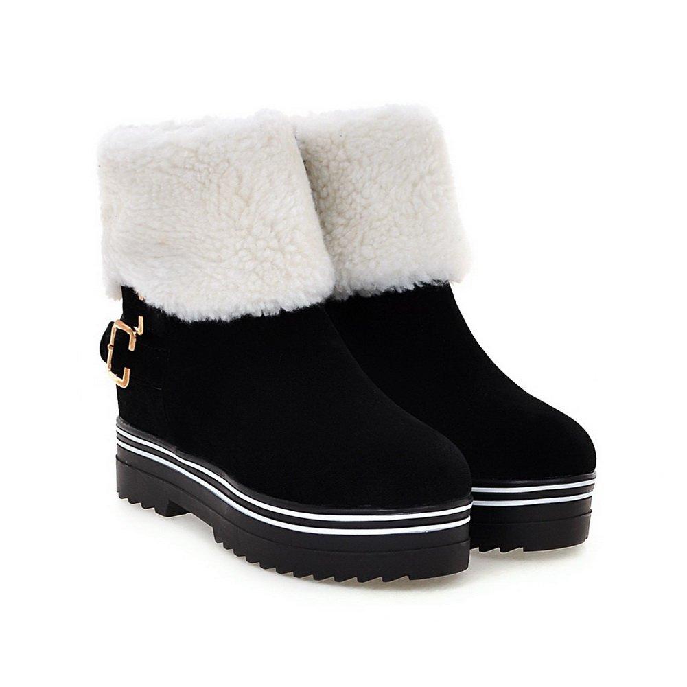 BalaMasa Womens Snow Boots Low-Heel Electroplate Heel Boots Urethane Boots Heel ABL10636 B079323RNB Boots da7089