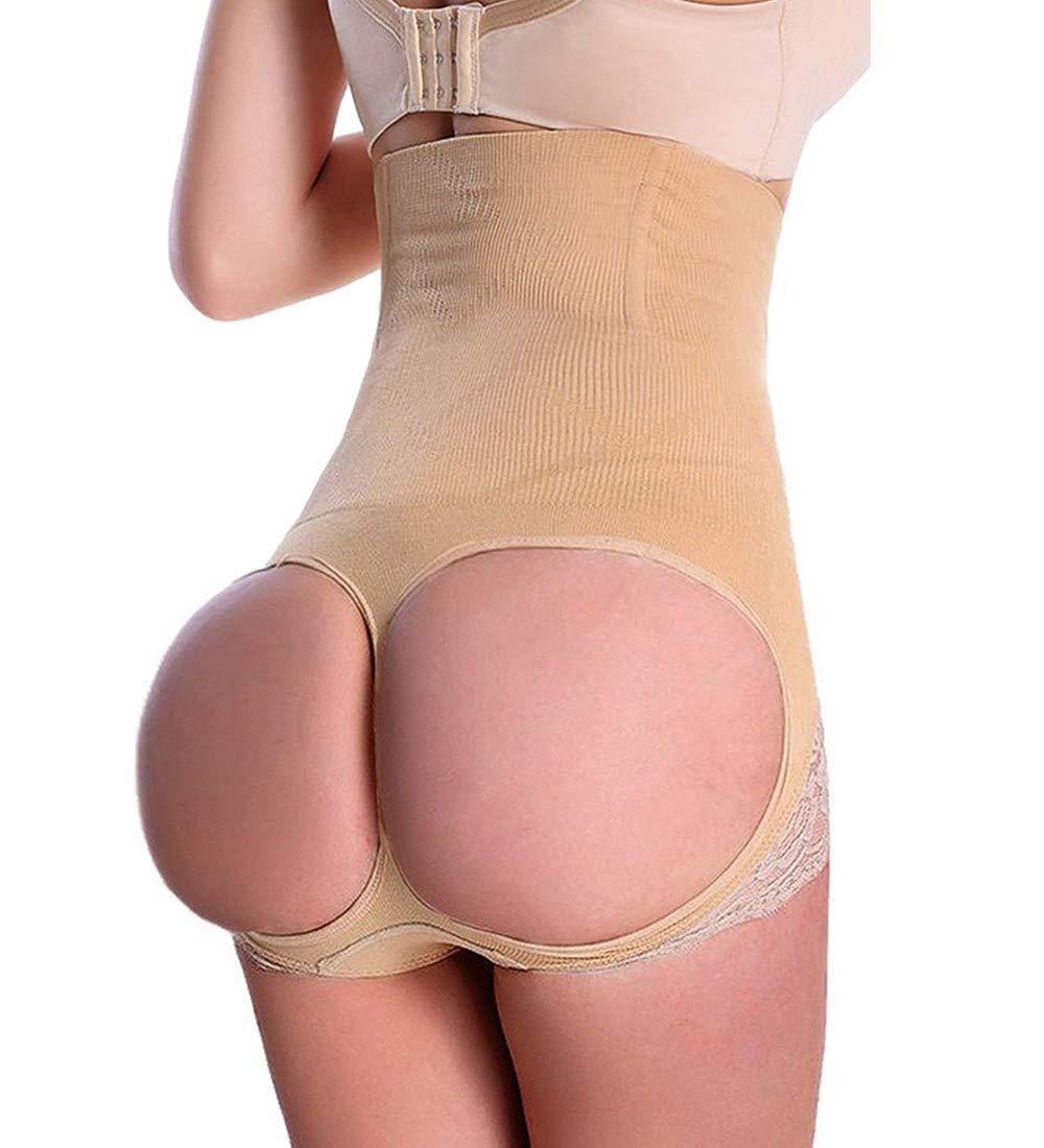 Womens Butt Lifter Shapewear Tummy Control Hi-Waist Seamless Panties Lace Hip Shaper Hourglass Figure