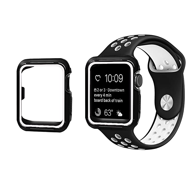 eaba955f752 Compatible con Funda Apple Watch Series 1/2/3 42mm 38mm Silicona Doble color