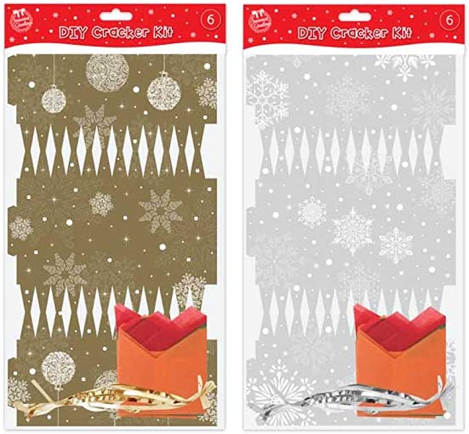 Make Your Own Accessory Pack Christmas Set Cracker Hats,Snaps /& Jokes