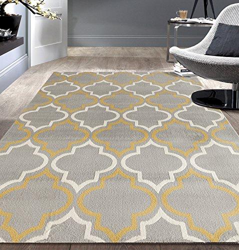 Rugshop Modern Moroccan Trellis Yellow