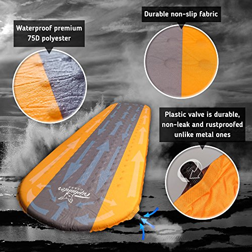 Self Inflating Sleeping Pad Lightweight Compact Foam