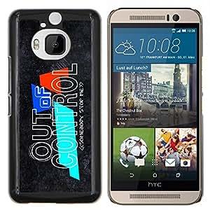 For HTC One M9Plus M9+ M9 Plus Case , Fuera de control- Diseño Patrón Teléfono Caso Cubierta Case Bumper Duro Protección Case Cover Funda