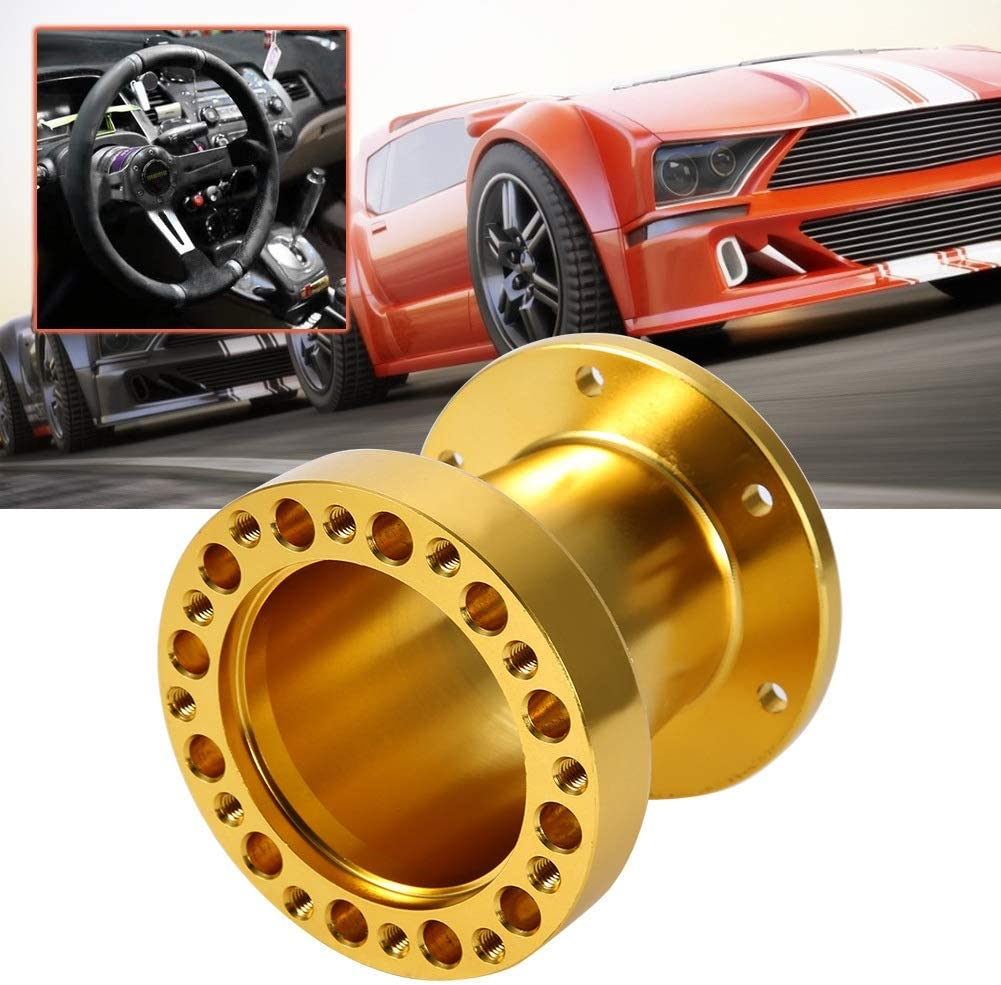 Adaptateur de moyeu de volant moyeu de volant de voiture universel de 3 pouces Entretoise en aluminium Adaptateur de moyeu de volant pour volant Couleur : Black