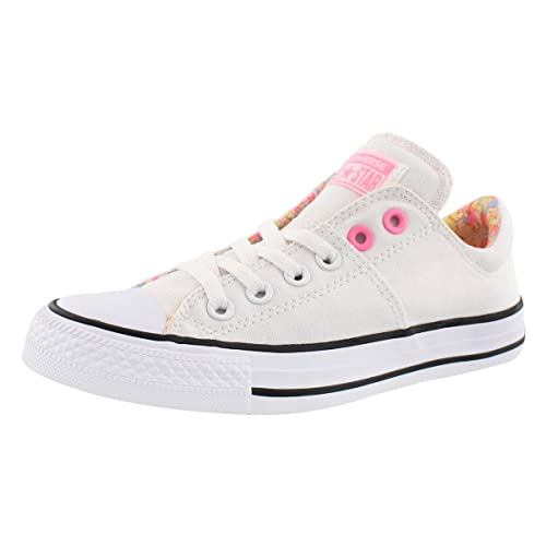 49121b9af6c6 Converse Women s Chuck Taylor All Star Madison Ox Trainers White Pink Glow  - UK 4.5