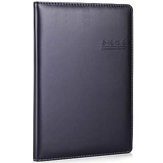 Taccuino, blocco note, 25K80 / registro riunione/libro in pelle/blocco note ufficio/diario/apprendimento/cartoleria/nero / 20 * 14 cm