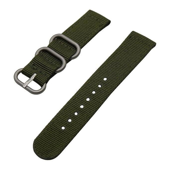 15 opinioni per Strap TRUMiRR 24 millimetri balistico nylon Watch Band Zulu 2 pezzi per Sony