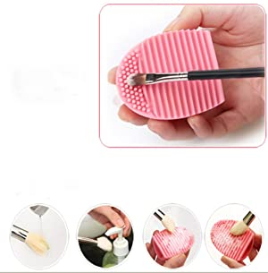 Makeup Brush Cleaners, Mostsola Silicone MakeUp Brush Washing Tools (Pink)