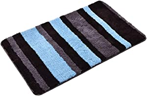 LOVEHOME Striped Bathroom Mat,Plush Shower Mat Shag Toilet Mat Super Absorbent Floor Mat for Tub Lavatory Washroom Bathhouse A 5080cm(2031inch)