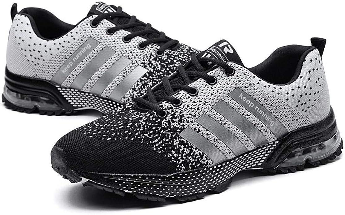 Zapatillas Deportivas de Malla para Correr y Correr, con Cordones, para Hombre y Mujer, para Correr, Gimnasio, Deportes, Talla Unisex, Color Gris, Talla 41 EU: Amazon.es: Zapatos y complementos