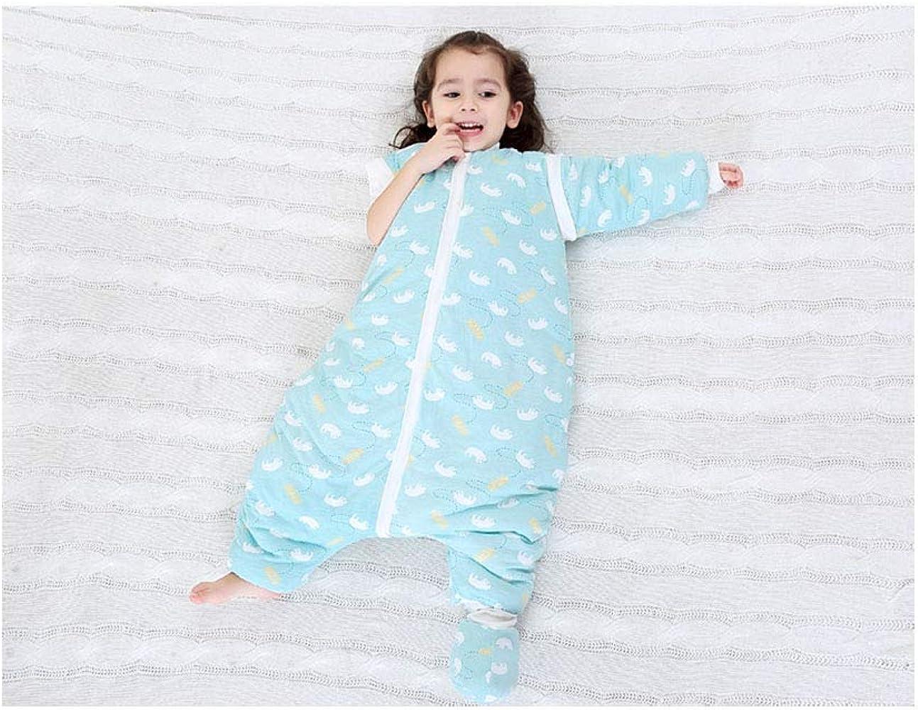 Aprox 3.5 TOG AIKSSOO Saco de Dormir para Beb/é de Invierno Algod/ón Acolchado con Pierna Partida Desmontable de Manga Larga