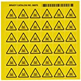 Brady 58575 Pressure Sensitive Vinyl Right-To-Know Pictogram Labels , Black On Yellow,  3/4'' Height x 3/4'' Width,  Pictogram ''Poison'' (36 Per Card,  1 Card per Package)