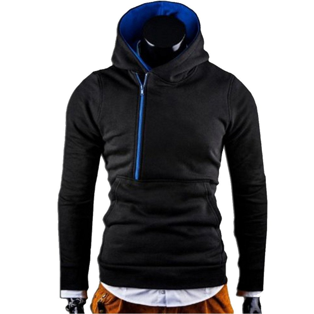 Allywit Mens Long Sleeve Hoodie Hooded Sweatshirt Tops Jacket Coat Outwear