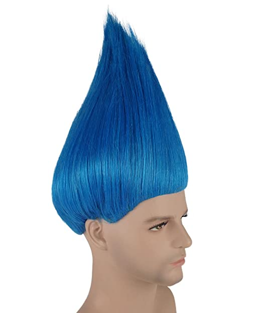 Blue Troll Trolls Movie Style ADULT AND KIDS SIZE WIG (Adult): Amazon.es: Juguetes y juegos