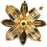 Ring plated gold 'Jasmin' amber.