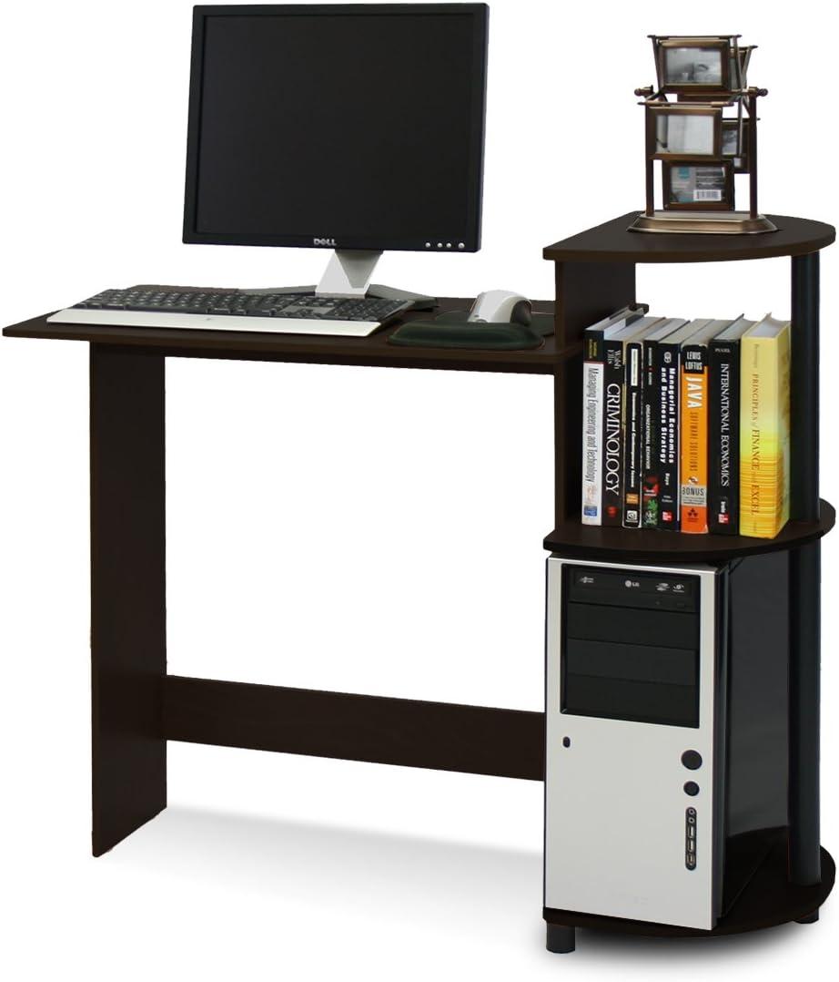 taglia unica Furinno Compact Scrivania per Computer Holz Espresso//Nero