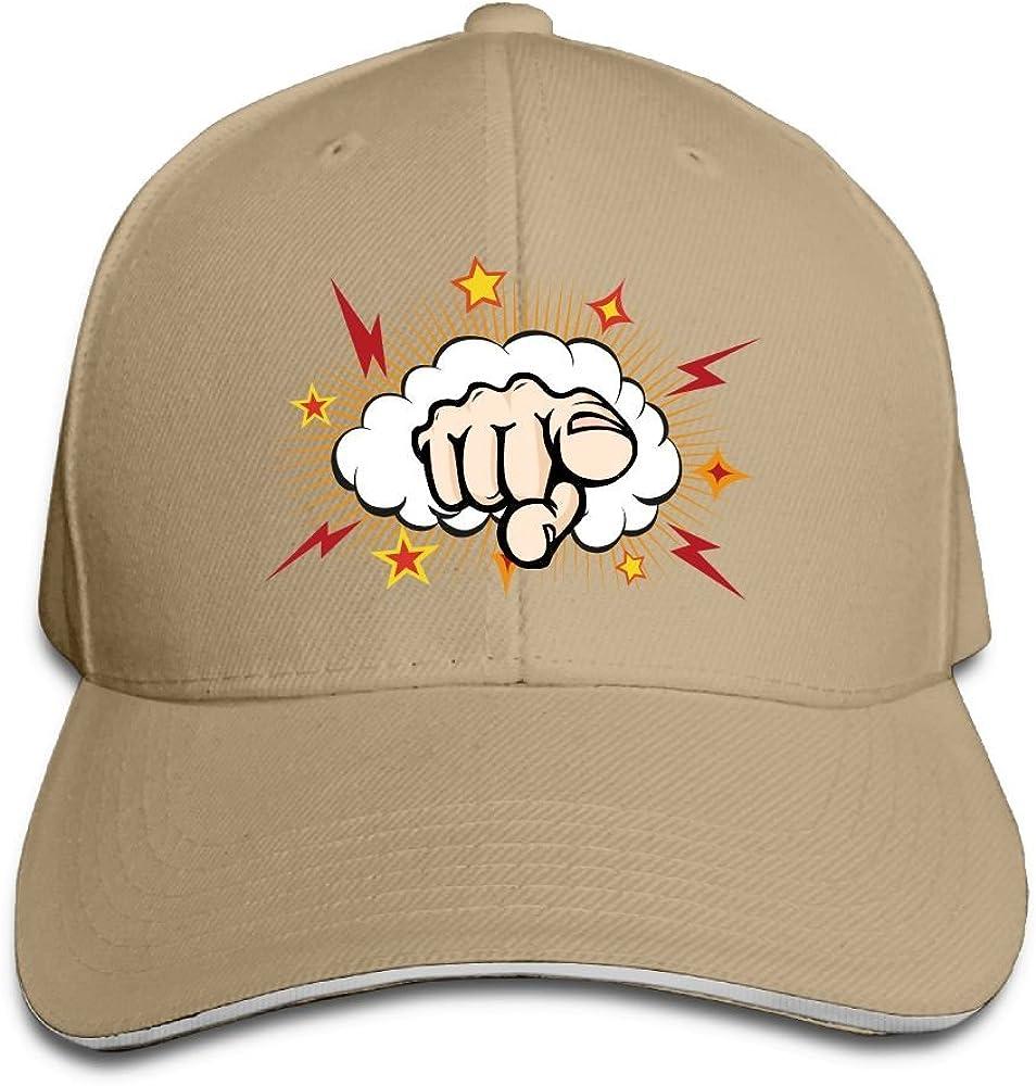 Unisex Sandwich Peaked Cap Its You Gesture Art Adjustable Cotton Baseball Caps