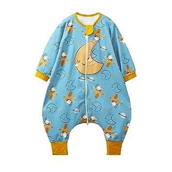 HAIMING-sleeping bag Saco De Dormir Pierna Dividida Mono De Bebe Pijamas De Bebe-Paño De Algodón De Una Sola Capa para Que Los Niños Usen Pijamas: ...