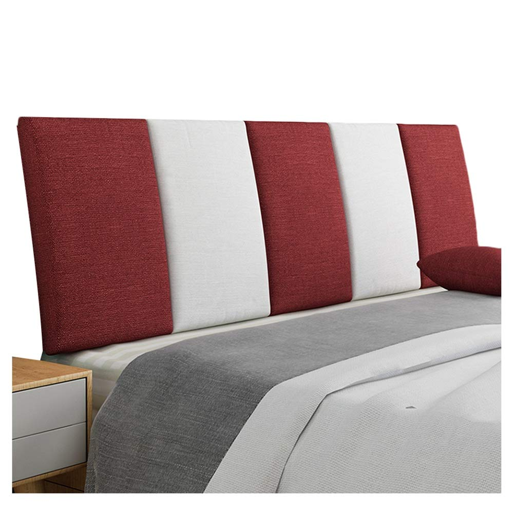 B 90x55cm WENZHE Upholstered Fabric Upholstered Headboard Pillow Bedside Cushion Wedges Backrest Waist Pad Cloth Backrest Flax Soft Case Home Hotel Washable Waist Pad, 5 colors (color   E, Size   150x55cm)