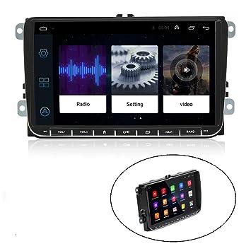 Camecho Android Radio para Coche Pantalla táctil de 9 Pulgadas Navegación GPS Estéreo Bluetooth USB Reproductor