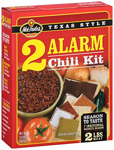 Amazon Com Wick Fowlers Products 2 Alarm Chili Kit 3 625 Ounce Bo Pack Of 12 Packaged Chili Soups Grocery Gourmet Food
