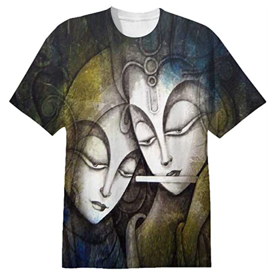 813e07fc Snoogg Radha Krishna Mens Casual All Over Printed T Shirts Tees: Amazon.in:  Clothing & Accessories