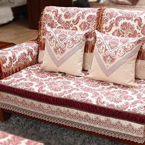 Contemporary Chinese sofa cushions Luxury sofa towel solid wood sofa cushion C 80x240cm(31x94inch) by Sofa towel