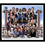 Let There Be Light: African American Freemasons By Wishum Gregory, 10x8 Inches, Black Frame