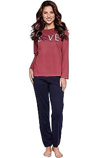 mit weicher Baumwolle Moonline moderner und bequemer Damen Pyjama//Shorty Verschiedene Modelle