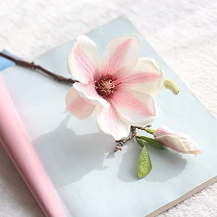Amazon Li Hua Cat Multicolor Magnolia Flower Artificial Home