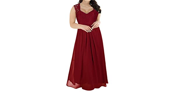 f4c857a0278 Nemidor Women s Deep- V Neck Sleeveless Vintage Plus Size Bridesmaid Formal  Maxi Dress (20W