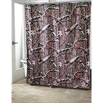 Mossy Oak Camouflage Print Fabric Shower Curtain By Avanti Linens