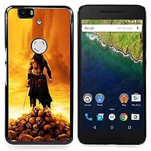 """Qstar Arte & diseño plástico duro Fundas Cover Cubre Hard Case Cover para Huawei Google Nexus 6P (Bárbaro Guerra Señor"""")"""