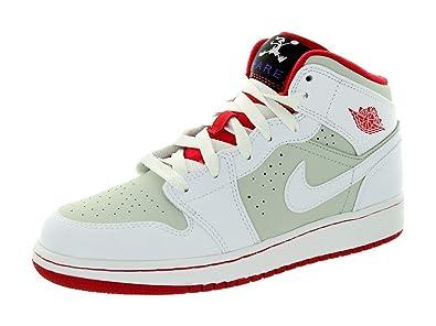 quality design 5af0a f719d Nike Jungen Air Jordan 1 MID WB BG Turnschuhe, Rot Schwarz (Weiß Wahre Red-Lght  Silber-Blk), 37 1 2 EU  Amazon.de  Schuhe   Handtaschen