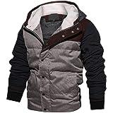 Homme Hiver Veste de Mode Manteau en Coton à Capuche épaisse Outwear Manteau  Respirant Sweats à a55341906c01