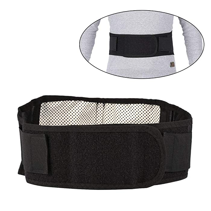 riteu Lower Back Support Belt - Lumbar Support,Waist Wrap Belt,Adjustable Compression & Breathable,Waist Protecting and Treatment,High Elasticity,for Gym,Posture, Lifting,Work,Pain Relief